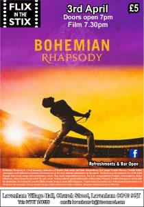 Flix in the Stix - Bohemian Rhapsody @ Lavenham Village Hall