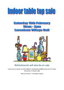 Indoor Table Top Sale @ Lavenham Village Hall
