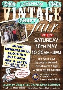 Vintage Craft Fair @ Lavenham Village Hall
